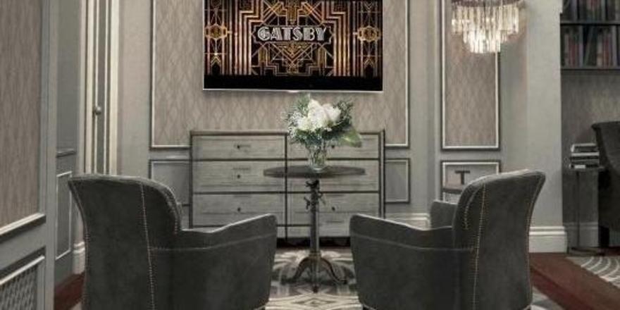 Ein Hauch 20er Jahre: Blick in den Livingroom der Fitzgerald-Suite