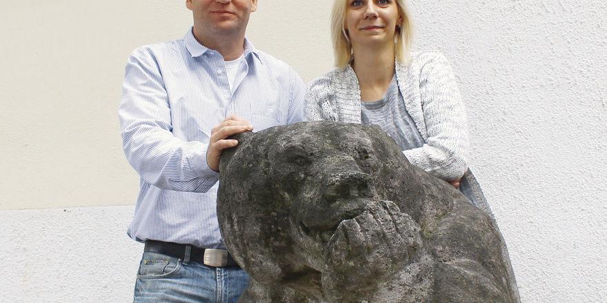 Bärenstarkes Team: Christian Theel und Küchenchefin Andrea Falkenau
