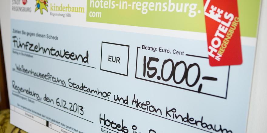 Gespendete Provisionen: 15.000 Euro sind während der zehntägigen Aktion zusammengekommen