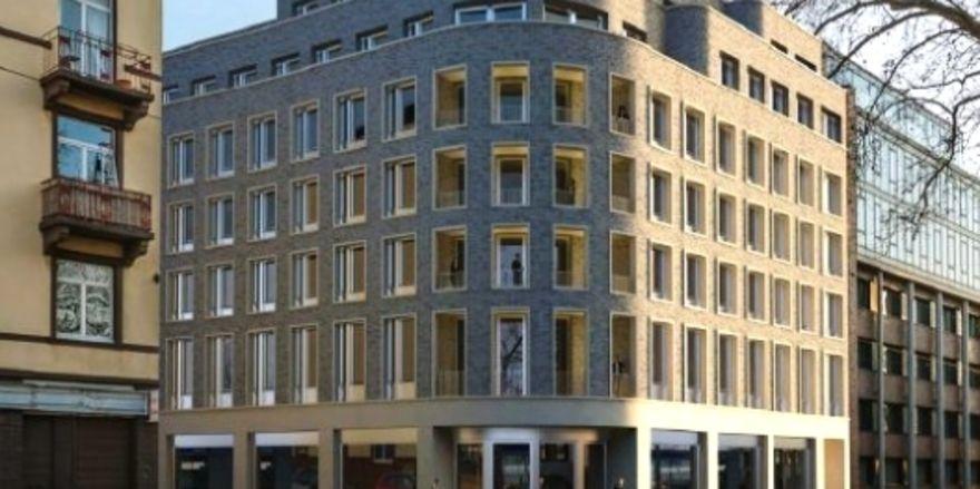 So soll es aussehn: Das Ibis Budget Hotel am Ostend in Frankfurt