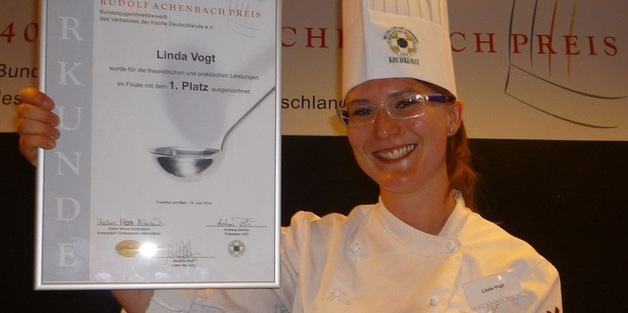 Der Preis ist heiß: Linda Vogts Freude über den Sieg war eher stiller Art