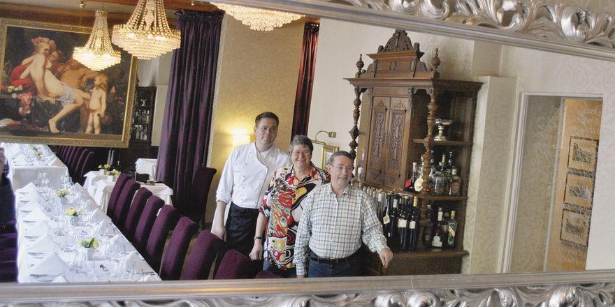 Betriebsübergabe geglückt: (von links) Frank Gebert mit seinen Eltern Marianne und Wolfgang