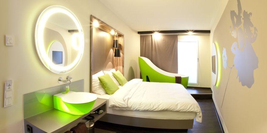 So soll's aussehen: Ein Musterzimmer des geplanten Travel24-Hotels