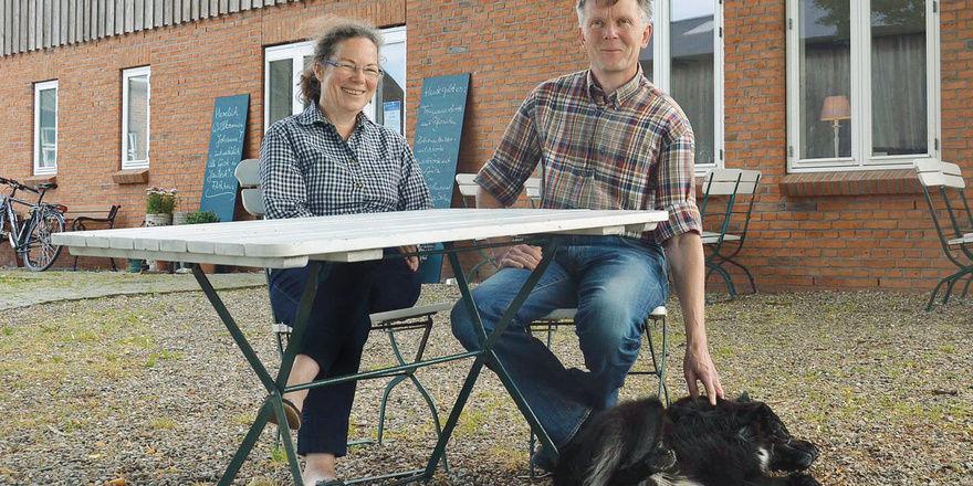 Auch Hunde sind willkommen: Uta und Stephan Janbeck sind Gastgeber aus Passion