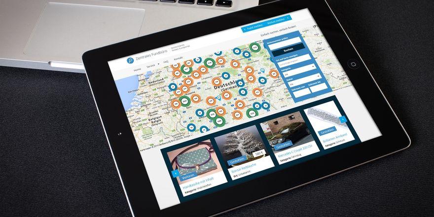 Fundbüro im Netz: Über eine Datenbank und eine Karte, die auf Google Maps basiert, sollen Gäste ihre verlorenen Gegenstände wieder finden