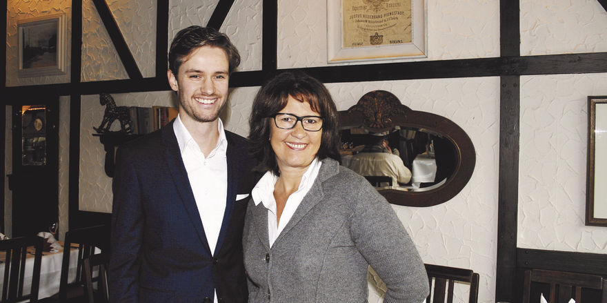 Nachfolge gesichert: Renate Bellin mit ihrem Sohn Dirk Knierim, der den Betrieb später einmal übernehmen will