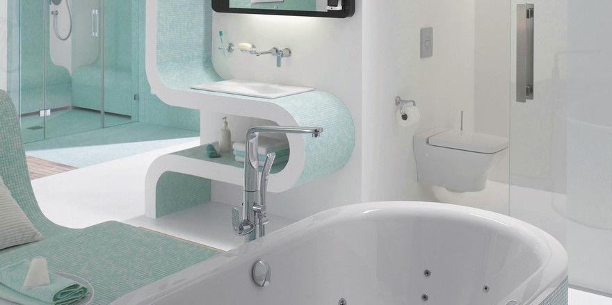 Kluge Technik: Im Bad der Zukunft wird der Spiegel zum Nachrichten-bildschirm und die Badewanne zur Massageliege