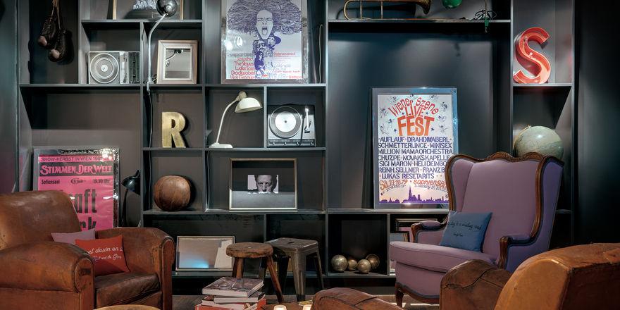 Detailverliebt: Die Lounge im Ruby Sofie sieht aus wie ein New Yorker Loft