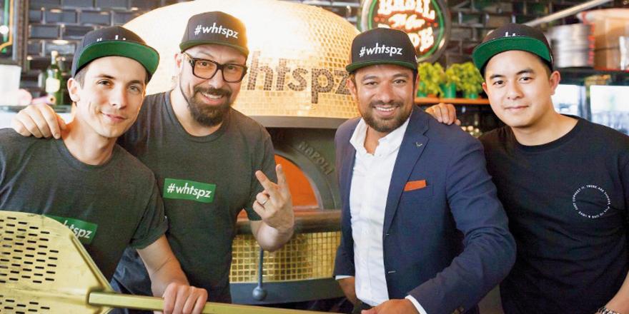 Sie sind nominiert: Die vier von What's Pizza (von links) Dominik Grzeschik, Selim Varol, Mustafa Aslandag und Huy Dieu