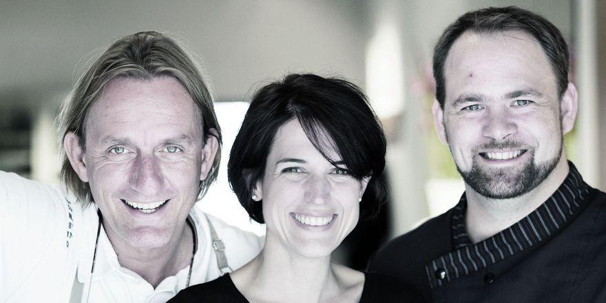 Gastro-Team: (von links) Frank Buchholz mit Claudia Karnecki und Frank Linke