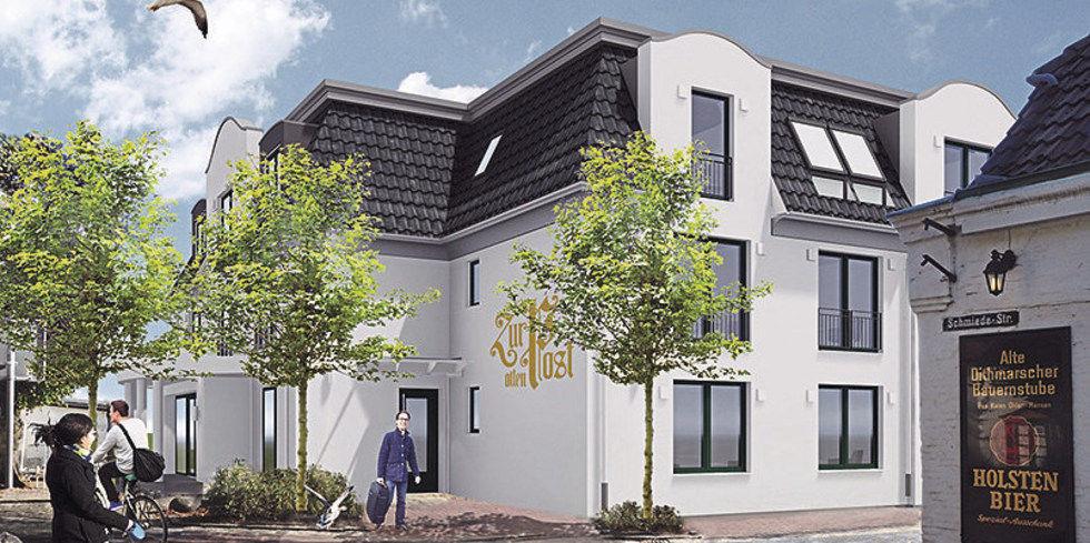 Das Hotel Zur Alten Post In Busum Offnet Neubau Allgemeine Hotel