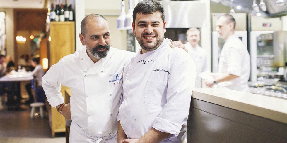 Cooles Vater-Sohn-Gespann: Aram (links) und Mikhail Mnatsakanov in ihrem Gastro-Projekt Mine.