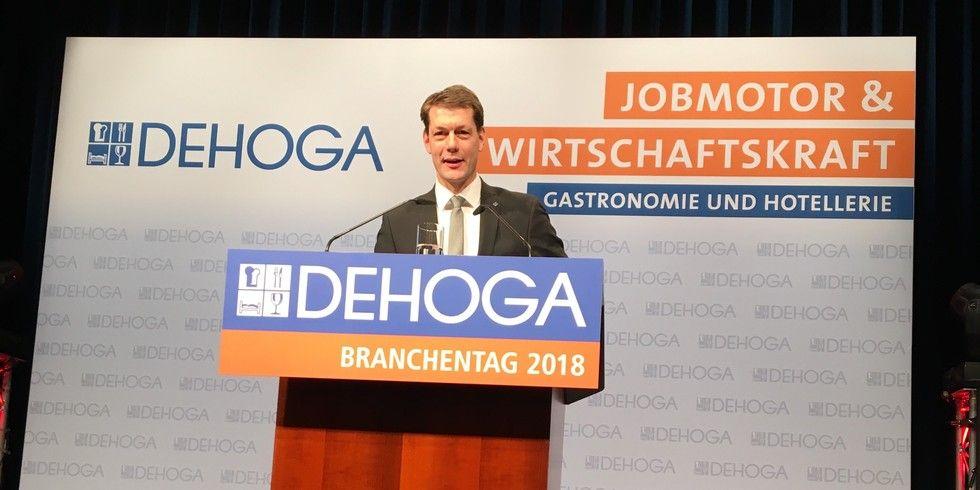 "DEHOGA-Präsident Guido Zöllick: ""Wir erwarten ganz konkretes politisches Handeln."""
