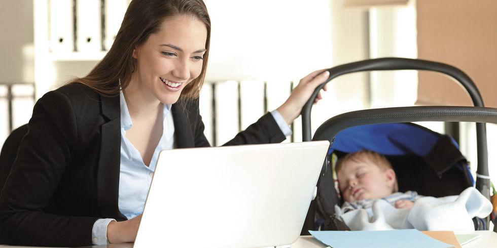 Traute Zweisamkeit: Arbeitgeber haben Mutter und Kind zu schützen.