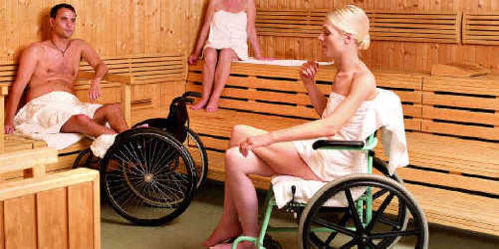mit dem rollstuhl in die sauna allgemeine hotel und. Black Bedroom Furniture Sets. Home Design Ideas
