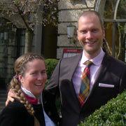 Constantin und Julia von Deines verlassen Nassauer Hof