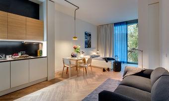 Voll ausgestattet: Die Serviced Apartments der GBI AG in der Fasanenstraße in Berlin City West