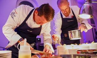 Eifrig am Werk: Die Culinary Fachberater Dirk Rogge und Christoph Clemens