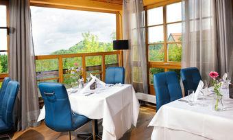 Frischer Look: Der Gastraum im Gourmetrestaurant