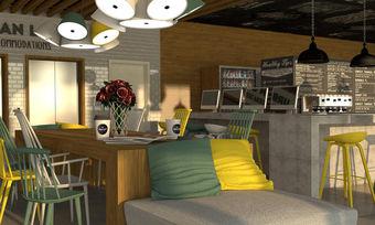 Blick ins künftige Urban Loft: Kaffee wird eine Rolle im Gastro-Konzept der 3-Sterne-Marke spielen