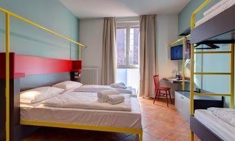 Meininger in Mailand: Poppig bunte Mehrbettzimmer