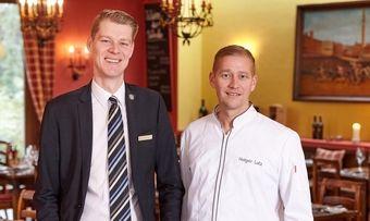 Haben viel Neues vor: Chef de Cuisine Holger Lutz (rechts) und Sommelier Patrick Berger
