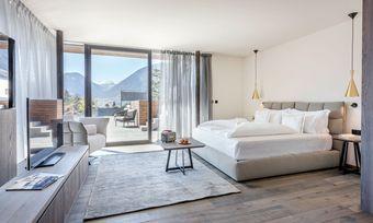 Mit Panoramablick: Eine Penthouse-Suite im Ansitz Plantitscherhof in Meran