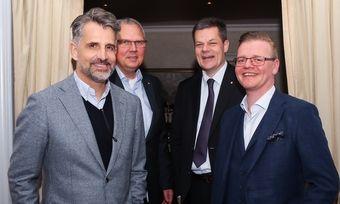 Arbeiten zusammen: (von links) Bernd Fritzges, Markus Luthe, Stefan Dinnendahl und Otto Lindner