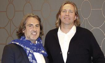 Setzen gemeinsam Ideen um: Designer Peter Buchberger (links) mit Eigentümer Andreas Striebel.