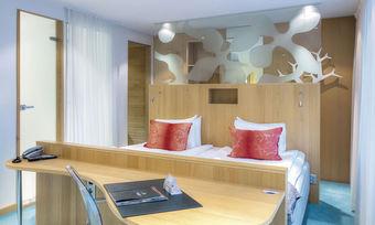Offenes Raumkonzept: Ein Zimmer der Marke Profilhotels der schwedischen Ligula Hospitality Group