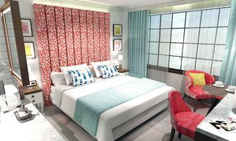 Frisch und jung: So sollen die Zimmer im Hard Rock Hotel Dublin aussehen (Rendering)
