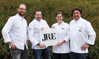 Gemeinsam bei den Jeunes Restaurateurs aktiv: (von links) Andreas Laux, Vizepräsident Andreas Hillejan, Viktoria Fuchs und Präsident Alexander Dressel