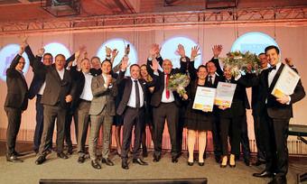 Applaus und Euphorie: Sieger, Jury und Sponsoren beim Deutschen Hotelnachwuchs-Preis 2019 im Welcome Kongresshotel Bamberg