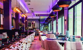 Freche Muster treffen auf schickes Design: Das Restaurant im neuen NYX Hotel in Bilbao