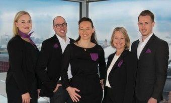 Verkaufsmannschaft bei Premier Inn: (v.l.) Emma Wooster, Moritz Mikusch, Kerstin Gibert, Susann Beeh, Kevin Klerkx