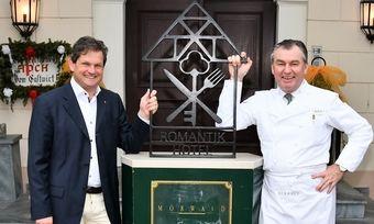 Neue Zusammenarbeit: Romantik-Co-Vorstand Ralph Düker begrüßte Toni Mörwald persönlich in der Hotelkooperation