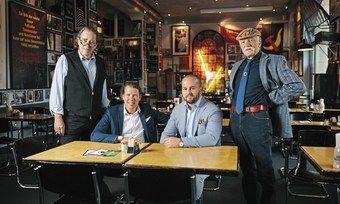Die Macher der Ständigen Vertretung: (von links) Harald Grunert, Jörn Brinkmann, Jan Philipp Bubinger und Friedel Drautzburg