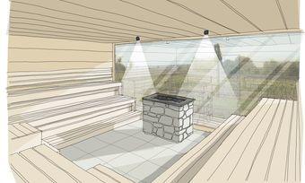 Schwitzen mit Aussicht: neue finnische Sauna in der Alten Rebschule mit Blick aufs Pfälzer Rebenmeer