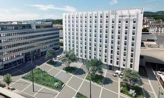 So soll's aussehen: Ein Rendering des geplanten Smartments-Doppelkomplex in Wien