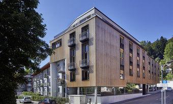Hingucker: Die geradlinige Fassade des Hauses