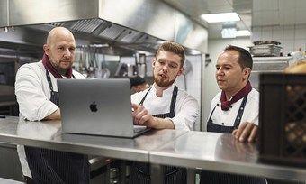 Küche und Computer: Im Parkhotel Stuttgart passt das gut zusammen