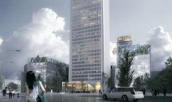 So soll es aussehen: Das neue Hotel im Tour Pleyel in Paris