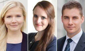 Sie sind die DHNP-Finalisten 2020: (von links) Josefine Mrosek, Elisabeth Düren und Philipp Heinrich