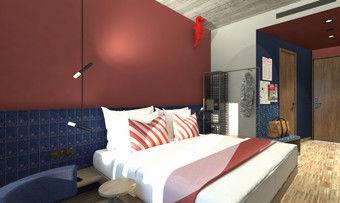 Lässig: Zimmer im künftigen Urban Loft Berlin