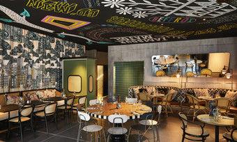 Stilmix: Das Interieur im Restaurant