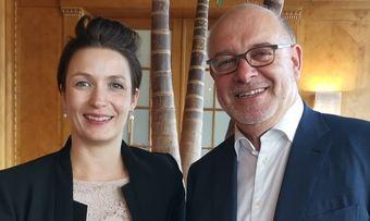 Haben lange zusammengearbeitet: Die neue Montana-Direktorin Miriam Böger und Ex-Direktor Fritz Erni