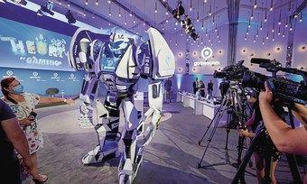 Die Gamescom wanderte ins Netz: Vor-Ort-Termine wie hier die Pressekonferenz gab es im Kölner Messezentrum kaum.