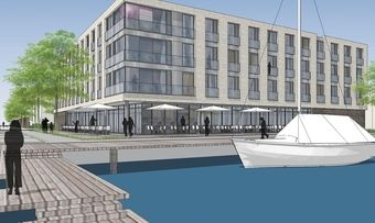 Gescheitert: Das geplante Hotel in der Flensburger Galwik-Bucht