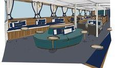 So soll's aussehen: Die Entwürfe für die Gestaltung des neuen Gastro-Schiff des Hotels Louis C. Jacob