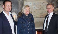 Managen das neue Spreewaldresort: (von links) Die Geschäftsführer René Kowatsch und Susanne Du Chesne sowie Hoteldirektor Dieter Haas